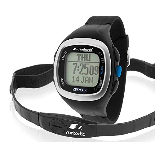 Runtastic Heart Rate GPS Watch (Uhr mit Brustgurt zur Herzfrequenzmessung) Schwarz