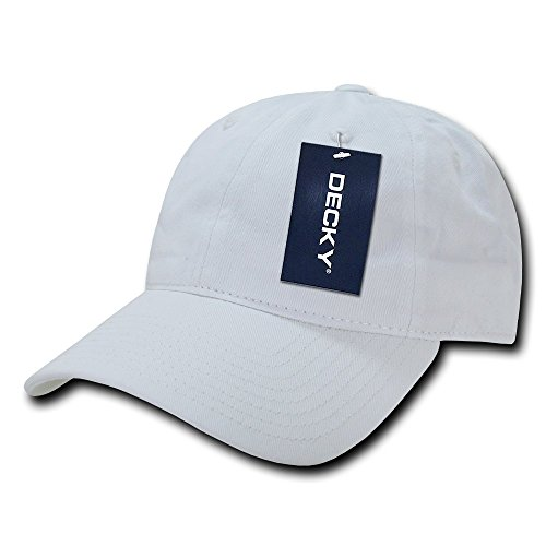 DECKY Washed Cotton Polo Caps, White
