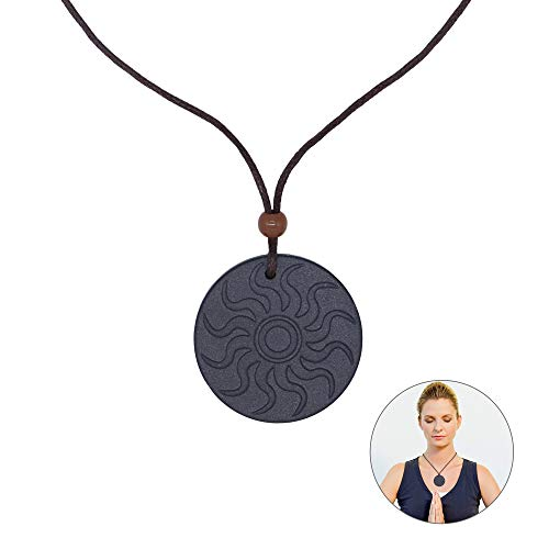 REAMTOP Anti EMF Radiation Protection Pendant, Anti Radiation Shield EMF Neutralizer Negative Ions Energy Pendant Necklace (Style 2)