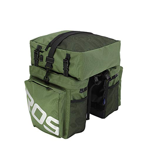 CapsA Sport Bicycle Bike Storage Bag for Cycling Mountain Picnic Camping Multifunction Bicycle Expedition Touring Cam Pannier Rear Shelf Package Mountain Bike Camel Bag Large Capacity (Green)