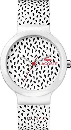 Lacoste Sportuhr Goa weiß schwarz rot Modell 2020095