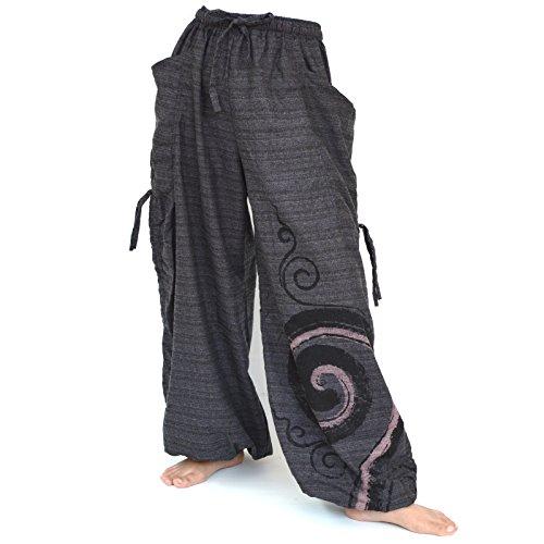 SHC Haremshose für Damen und Herren Aladinhose Jogginghose mit Verstellbarer Beinlänge