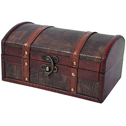 Boîte de Rangement Antique boîte de Rangement Antique de ménage, boîte de Rangement, Fournitures de Collection Bijoux Femmes pour Accessoires à la Maison(Without Lock)