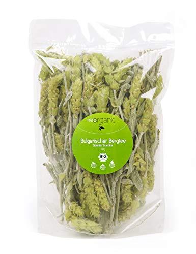 Preisvergleich Produktbild Bio Bulgarischer Bergtee (Sideritis Scardica) 80g Mursalski chai,  100% biologischer Anbau in 1200m Höhe,  Wachmacher,  fördert die Konzentration,  handgepflückt,  ganze Stängel,  luftgetrocknet