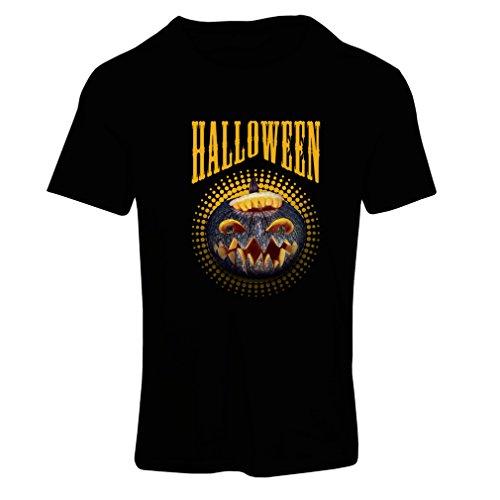 lepni.me Camiseta Mujer Calabaza de Halloween - Ideas del Traje del Partido 2017 (Medium Negro Multicolor)