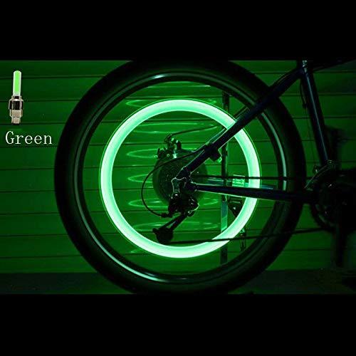 HYJ-DENGMAO, 2 Unids Luces de Neón Luces de Neón de Color Llanta de la Rueda de la Llanta de la Rueda Cubierta de Aire de la Luz Llanta de la Llanta Vástago de la Rueda Lámpara LED Flash Válvula de la