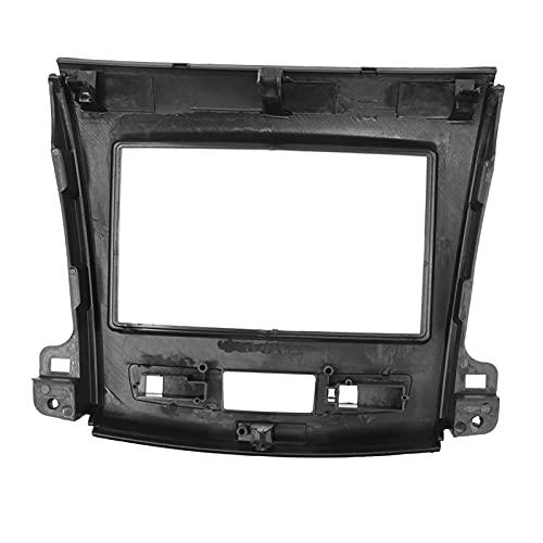 Jianjin Ajuste para Mitsubishi Outlander 2008-2012 2 Din Car DVD Radio Marco montado Fascia Panel Facia Dash Kit de montaje bisel Kit de montaje (tamaño: 173 x 98 mm)