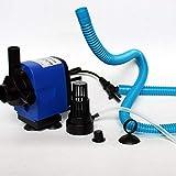 73JohnPol Acuario silencioso Filtro 3 en 1 Bomba de oxígeno Filtro acuático Sumergible Ciclo de Agua Bomba de aireación Filtro Interno del Acuario (Color: Negro) (TAMAÑO: L)