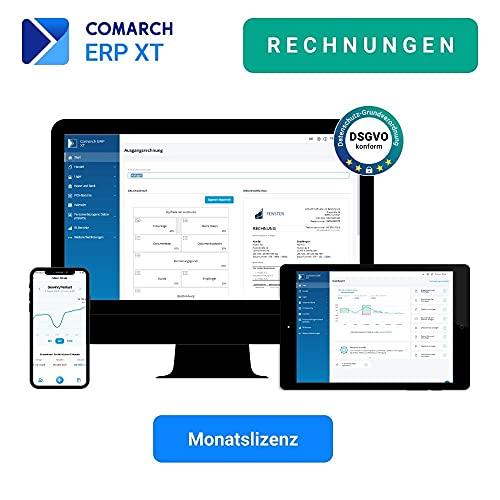 Comarch ERP XT - mobile Rechnungssoftware für Klein- und Einzelunternehmen, Selbstständige - aus der Cloud - viele Funktionen - Paket RECHNUNGEN (Monatslizenz)