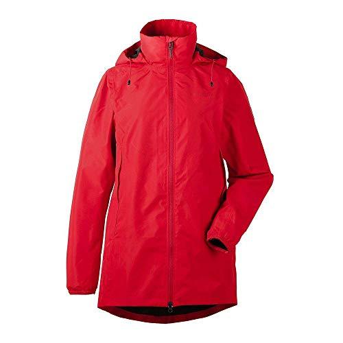 Didriksons W Noor Parka Rot, Damen Regenjacke, Größe 42 - Farbe Chili Red
