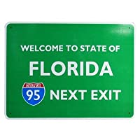 トラフィックサインボード FLORIDA NEXT EXIT 95 アメリカ ストリート看板 フロリダ