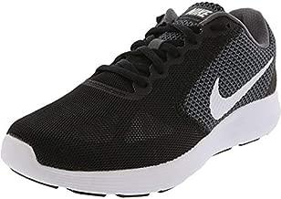 Nike WMNS Revolution 3 Women Round Toe Synthetic Running Shoe Dark Grey/White/Black 9.5 D - Wide