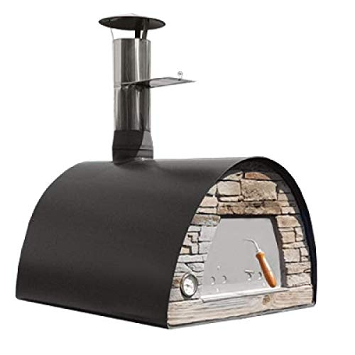 Mobile / Portable Wood Fired Pizza Oven Black