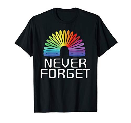90er Party Outfit | Spielzeug Spirale Regenbogen Spielen T-Shirt