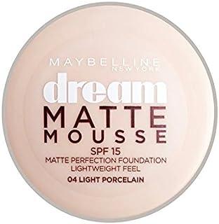 メイベリン夢のマットムース土台04磁器30ミリリットル x2 - Maybelline Dream Matte Mousse Foundation 04 Porcelain 30ml (Pack of 2) [並行輸入品]