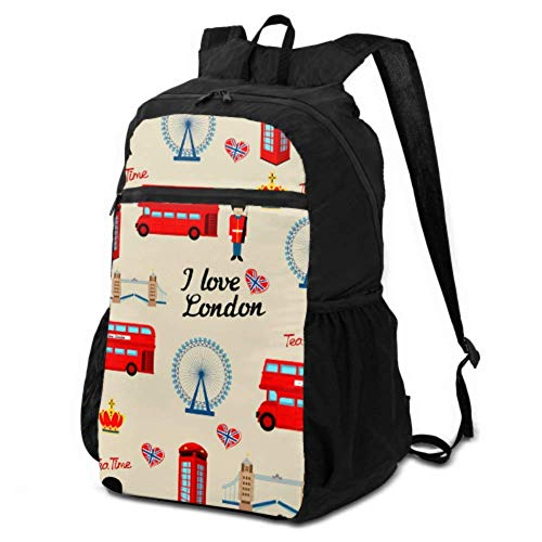 Daypack für Frauen, Reiserucksack, niedlicher Londoner Wache, Cartoon, Damen-Wanderrucksack, faltbarer Reiserucksack, leicht, wasserdicht, für Damen und Herren