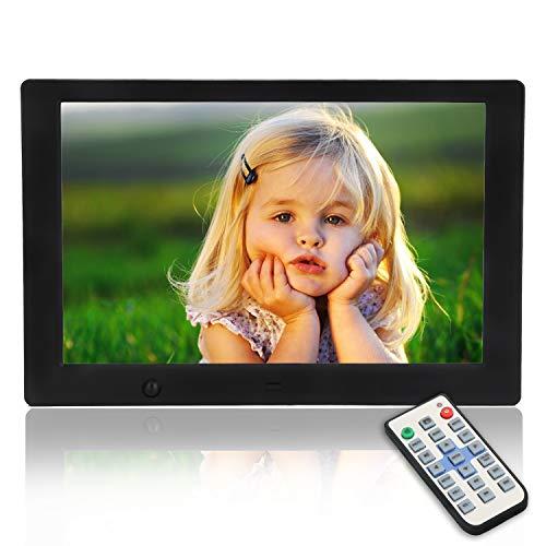 MYPIN Cornice Digitale, Cornice Digitale USB Display IPS HD da 10,1 Pollici con Sensore di Movimento e Telecomando, Supporto USB e Scheda SD