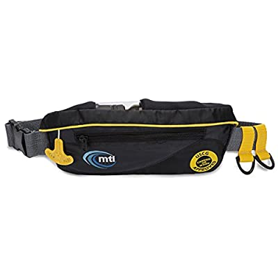 MTI SUP Safety Belt Inflatable Flotation Device - Black/Gray - Adult Universal
