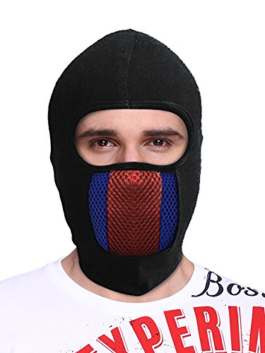 Big Tree® Pro Bike Riding & Cycling Anti Pollution Dust Sun Protecion Full Face Cover Mask (Black)