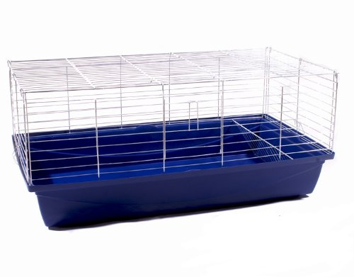 Hasenkäfig Kaninchenkäfig Meerschweinchenkäfig Kleintier Rabbit 100x54x48 blau