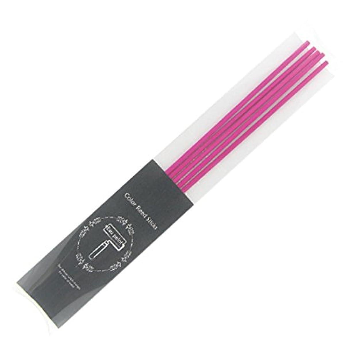 無一文暗黙家Eau peint mais+ カラースティック リードディフューザー用スティック 5本入 ピンク Pink オーペイント マイス