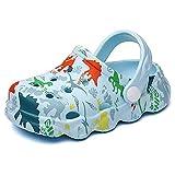 Zuecos Mules Niñas Niños Sandalias de Playa y Piscina Lindo Dinosaurio Zapatillas Verano Respirable Antideslizante Zapatos de Jardín Unisex Azul Claro EU 28/29 (Tamaño de la Etiqueta 180mm)