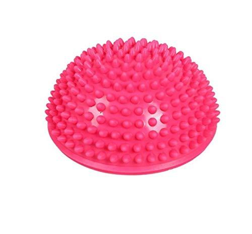 YALINA Bola De Yoga Inflable Hemisferio Fitness, 16 Cm PVC Point Masaje Fitness Pilates Ejercicio Entrenador PC 1 Rosa roja