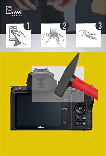 EnWi   2X Panzer-Glas-Folie 9H Bildschirm-Schutz-Folie für Nikon Z 50 Z50