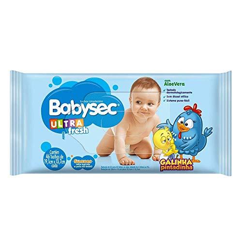 Toalhas Umedecidas Babysec Ultrafresh Galinha Pintadinha, 46 Unidades de 19,1x13,7 cm