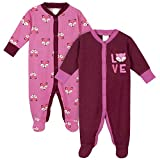 Unknown baby girls 2-pack Thermal 'N Play Sleepers, Pink Fox, 6-9 Months US