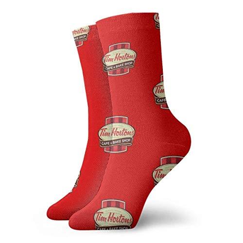 2020 Christmas Ornaments Tim Hortons Canadian Coffee Chain Design Socks Slipper Socks For Women,Fun Socks 30cm/11.8Inch