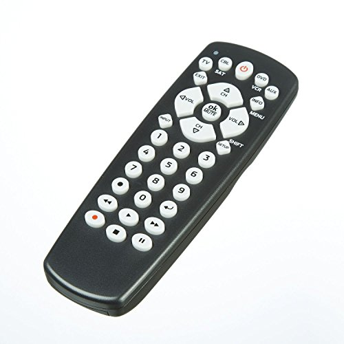 4 Device Universal Remote by Onn- Programmable for TV, Cable, Satellite, DVD, VCR, AUX with Easy Setup Codes