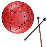 Konesky Steel Pan Steel Tongue Drum Tamburo a Percussione a Mano da 6 Pollici 8 Tune Etere...
