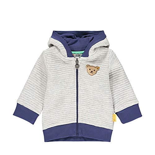 Steiff Baby-Jungen Sweatjacke Sweatshirt, Soft Grey Melange, 68