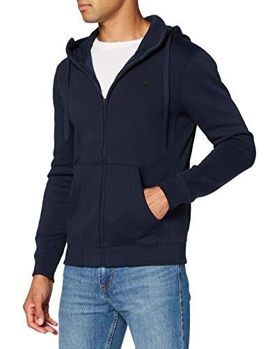G-STAR RAW Premium Core Hooded Zip Sweat Jersey de Punto, Azul Sartho C235-6067, XX-Large para Hombre