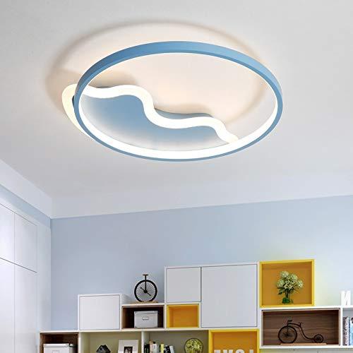 5151BuyWorld LED-kroonluchter, modern, voor kinderen, entree, slaapkamer, kinderkamer, roze/wit/blauw