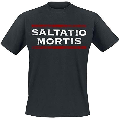 Saltatio Mortis Red Stripes Männer T-Shirt schwarz XXL