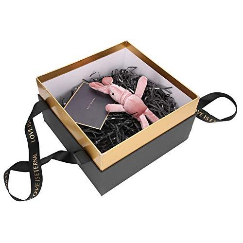 Jopwkuin Caja de Regalo Herramienta Ideal 3 Colores Diferentes para Guardar Joyas, para Guardar Dulces(Negro (Traje B))