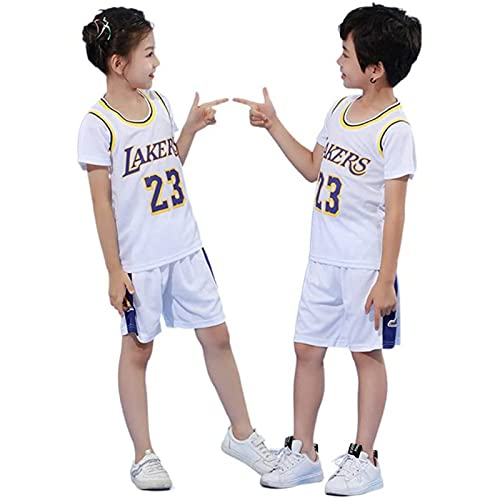 Camiseta Baloncesto Niño Niño Michael Jordan # 23 Chicago Bulls Retro Pantalones Cortos De Baloncesto Camisetas De Verano Uniformes Y Tops De Baloncesto (M,colour-05)