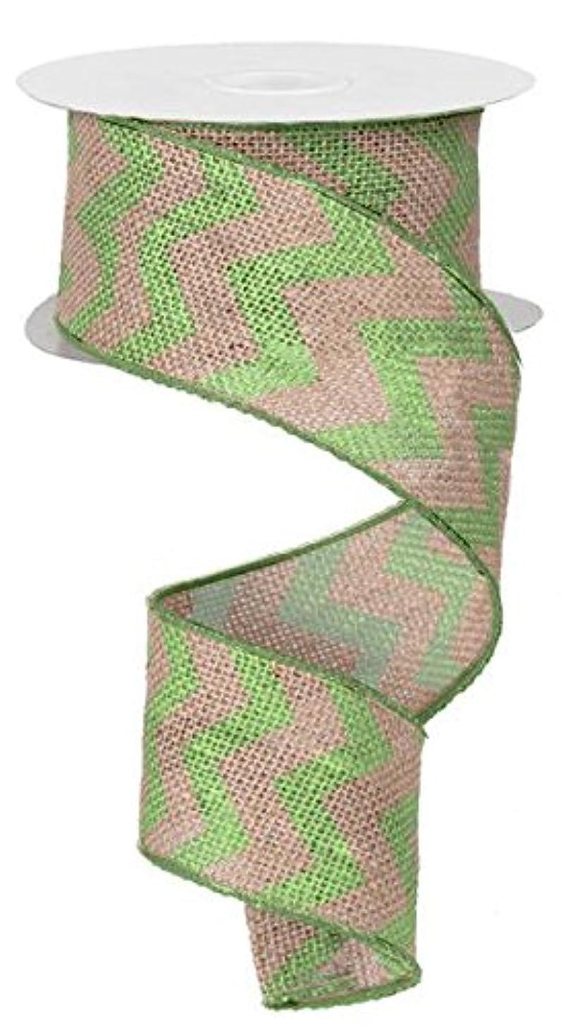 Chevron Burlap Wired Edge Ribbon - 2.5