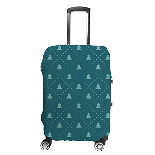 CHEHONG Suitcase Cover Luggage Cover Christmas Tree Dark Green Travel Trolley Case Protective Washable Polyester Fiber Elastic Dustproof Fits 22-24 Inch