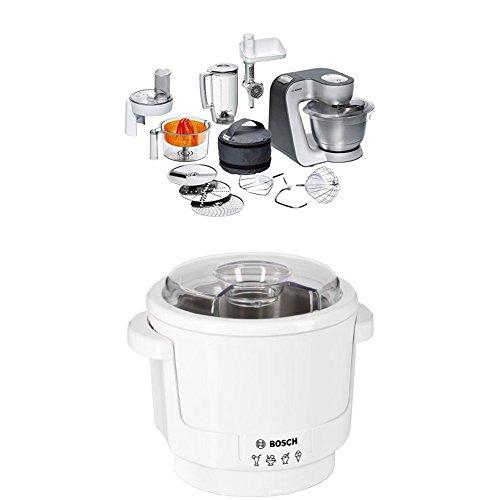 Bosch MUM56340 Küchenmaschine Styline + MUZ5EB2 Eisbereiter Küchenmaschinenzubehör