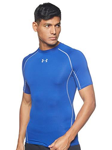 Under Armour UA Heatgear Short Sleeve Camiseta, Hombre, Azul (Royal/Steel (400), L