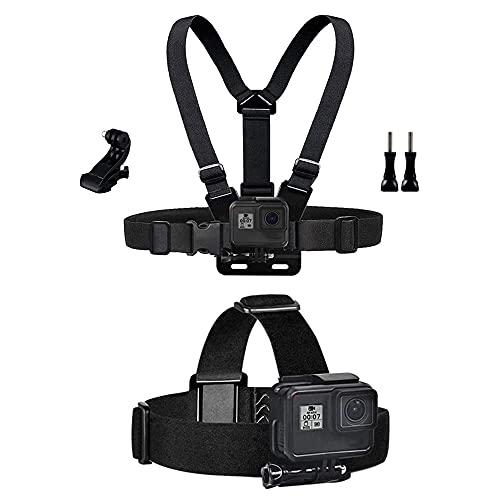 TEKCAM Action Kamera Zubehör Brustgurt Kopfgurt Kit Kompatibel mit GoPro Hero 9/8/7/6/5/4 Akaso EK7000 Crosstour Victure Apexcam