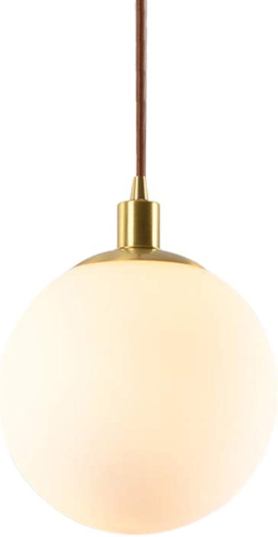 Nordique Moderne Créatif Or Boule De Verre Ronde LED éclairage Cuivre Lustre Salon Bar Restaurant Café Décoration Mini Lustre éclairage (Taille   20  25cm)