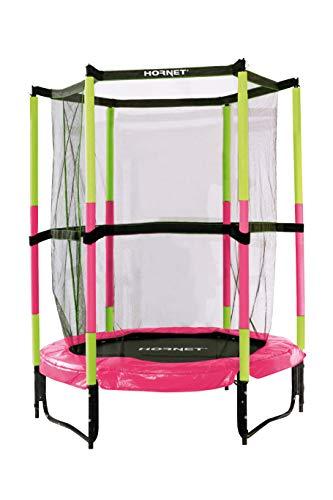 Hornet Kindertrampolin Jump In - Trampolin mit Sicherheitsnetz - 140 cm, pink - 65609