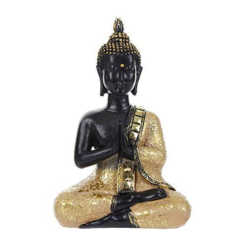 BESPORTBLE Budismo Indio Figurilla Resina Meditación Buda Escultura Hecha a Mano Sentado...