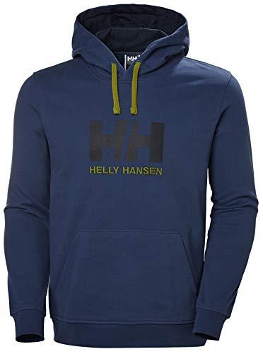 Helly Hansen HH Logo Hoodie Sudadera con Capucha, Azul (North Sea Blue), L para Hombre