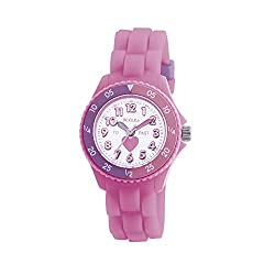 Quartz Movement Round Plastic Case with Turnable Bezel Rubber Strap with Buckle Time Teacher 1 Year Guarantee