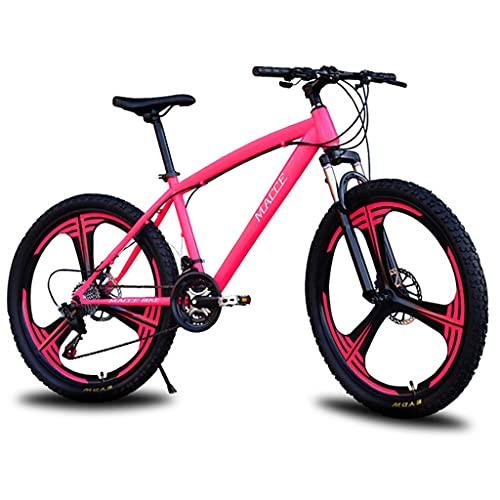 Bicicleta de montaña Mountainbike Bicicleta 26 pulgadas de bicicletas de montaña de acero al carbono de alta velocidad 21/24/27 Montaña de bicicletas for hombres y mujeres, la bici sola suspensión Bic